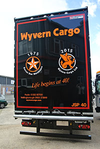 The slogan now features on a specially liveried trailer